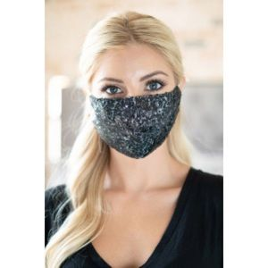 Double Layer Sequin & Lace Face Mask